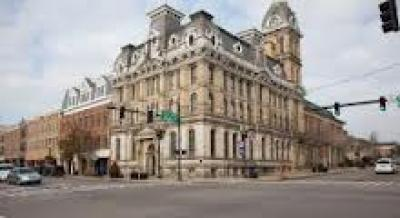 The Wayne County Ohio Common Pleas Courthouse in Wooster, Ohio